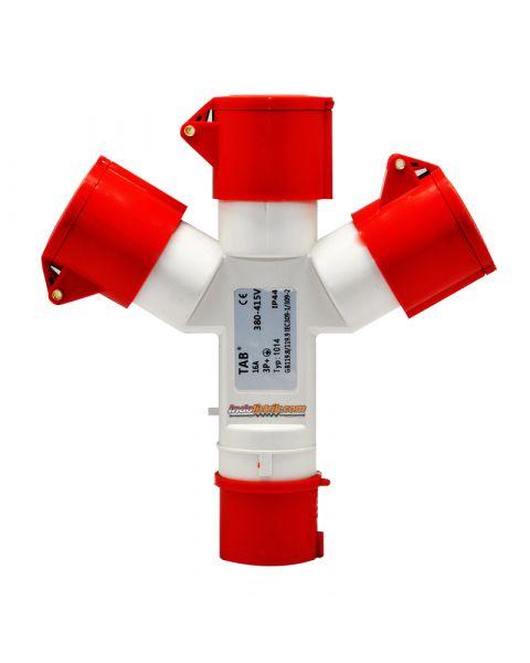TAB Industrial Plug dan Socket Cabang 3 Type 1014 ( 4Pin x 16 Amp )