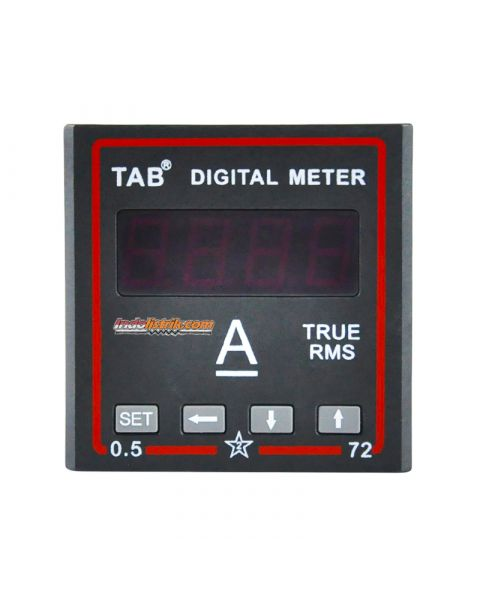 TAB Ampere Meter Digital DC 72x72 via shunt 60mV