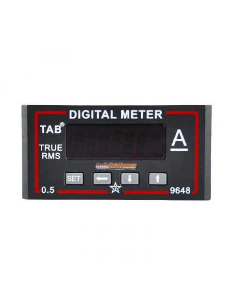 TAB Ampere Meter Digital DC 96x48 via shunt 75mV