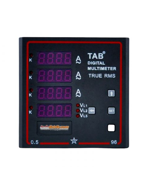 TAB Multi Meter Digital 3 Phase 3 Ampere, 1 Volt 96x96mm