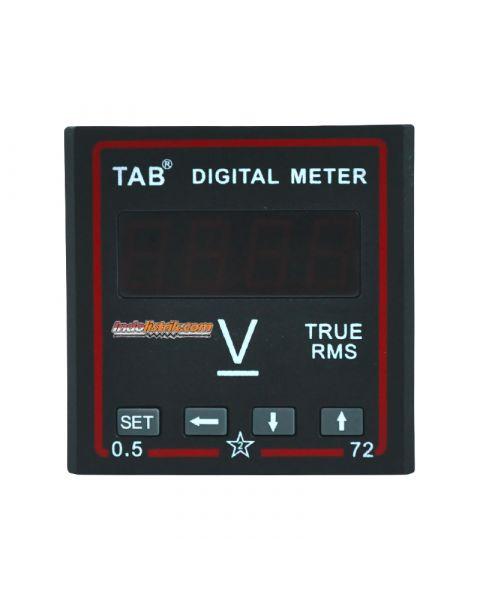 TAB Digital Voltmeter 72x72 600VDC