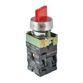 TAB Illuminated-Selector Switch 2posisi Stay-Put 22mm LAY5-BK2465 Merah